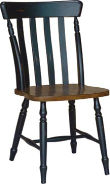 Cottage Chair Aged Ebony & Espresso
