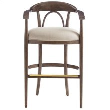 Panavista Studio Barstool in Quicksilver