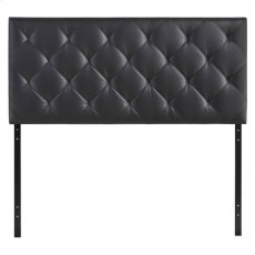 Theodore Queen Upholstered Vinyl Headboard in Black Product Image