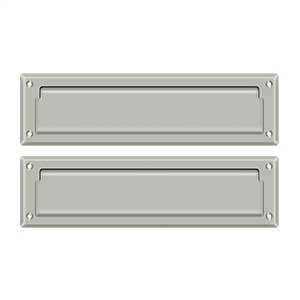 """Mail Slot 13 1/8"""" with Interior Flap - Brushed Nickel"""