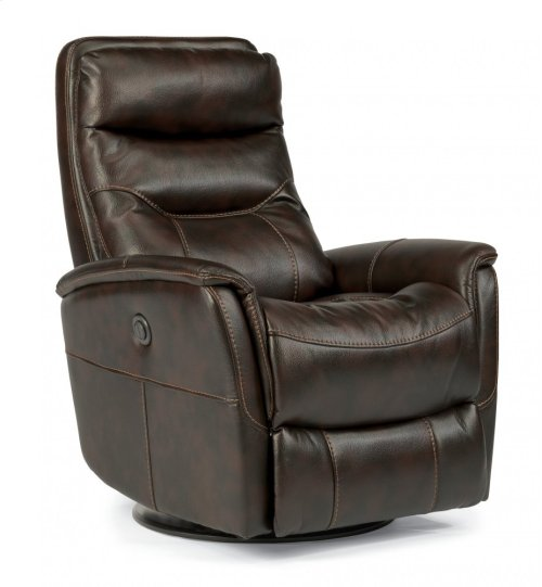 Alden Fabric Queen Power Swivel Gliding Recliner
