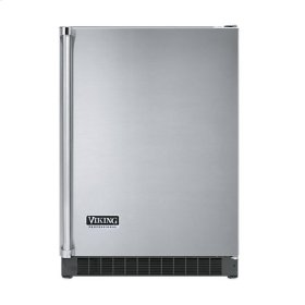 "Stainless Steel 24"" Solid Door Beverage Center - VUAR (Left Hinge Solid Door)"