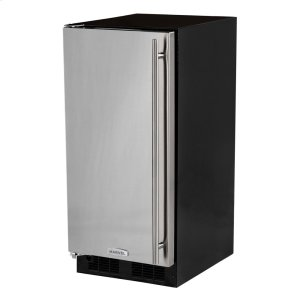Marvel15-In Built-In All Refrigerator with Door Style - Stainless Steel, Door Swing - Left
