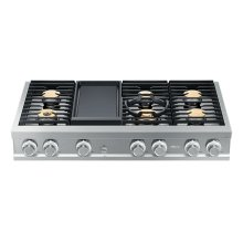 "Modernist 48"" Rangetop, Silver Stainless Steel, Natural Gas"