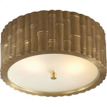 Visual Comfort AH4004NB-FG Alexa Hampton Frank 2 Light 11 inch Natural Brass Flush Mount Ceiling Light