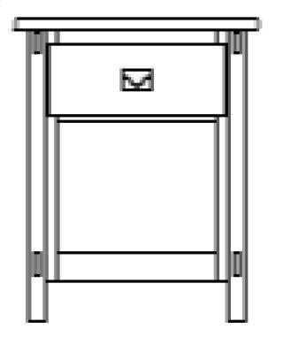 Savannah 1 Drawer Nightstand