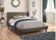 Grey Fabric Full Size Platform Bed Frame