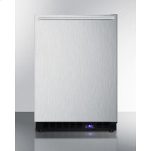 Frost-free Built-in Undercounter All-freezer for Residential Use, With Factory Installed Icemaker, Stainless Steel Wrapped Exterior, and Horizontal Handle
