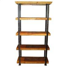 Rustic Pine 5 Shelves Bookcase