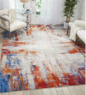 TWILIGHT TWI26 IVORY/MULTI RECTANGLE RUG 2'3'' x 3'