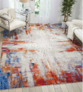 TWILIGHT TWI26 IVORY/MULTI RECTANGLE RUG 5'6'' x 8'