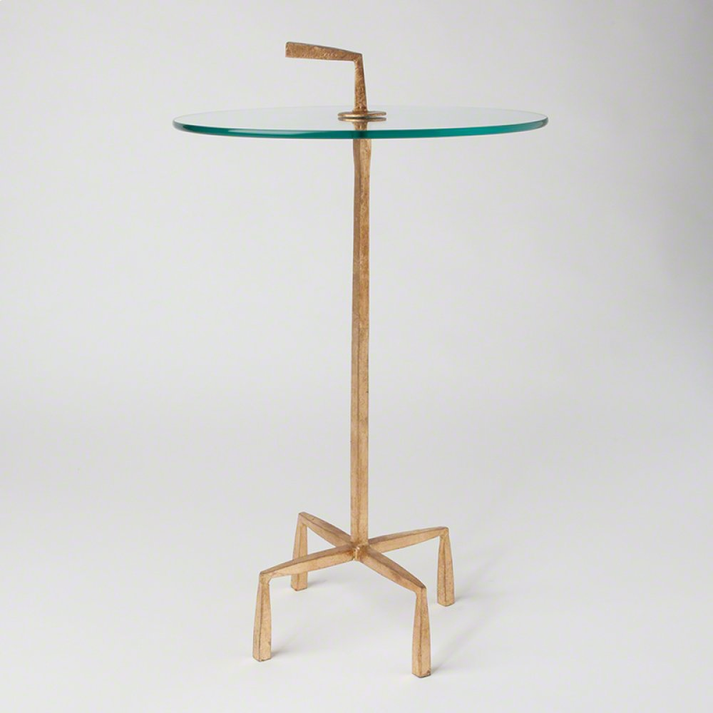 Quad Pod Accent Table-Gold Leaf