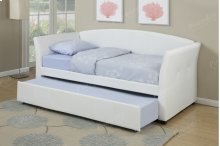White Twin Bed with Trundle