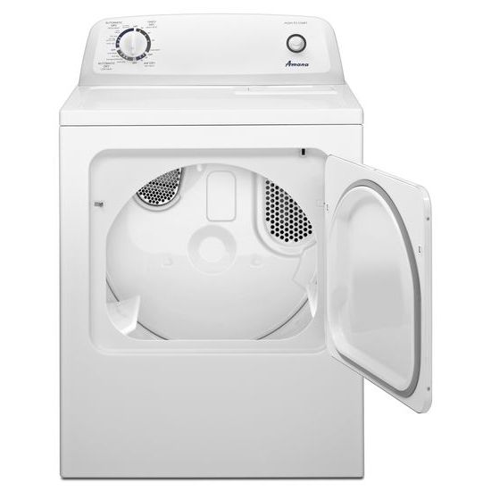 top load electric dryer with automatic dryness control white