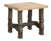 Emerald Home Barcelona End Table Natural Top, Brown Legs T551-1