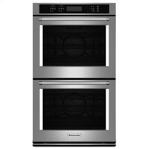 "Kitchenaid27"" Double Wall Oven with Even-Heat True Convection - Stainless Steel"