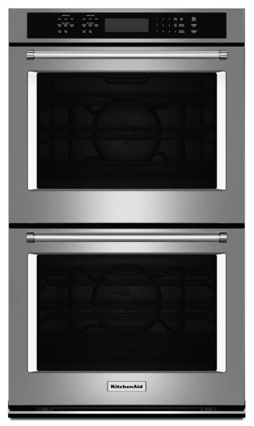 """27"""" Double Wall Oven with Even-Heat True Convection - Stainless Steel"""
