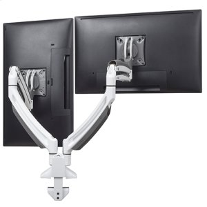 Chief ManufacturingKontour K1D Dynamic Desk Clamp Mount, 2 Monitors, White