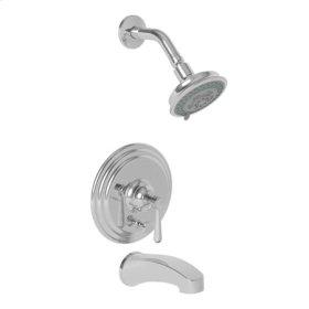 Weathered-Brass-Living Balanced Pressure Tub & Shower Trim Set