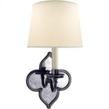 Visual Comfort AH2040GM-PL Alexa Hampton Lana 1 Light 6 inch Gun Metal Decorative Wall Light