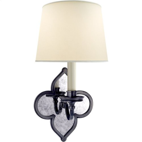 Visual Comfort AH2040GM-PL Alexa Hampton Lana 1 Light 7 inch Gun Metal Decorative Wall Light