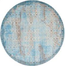 Karma Krm01 Blu Round Rug 7'10'' X 7'10''