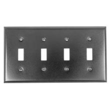 Switch Plate, Four Toggle