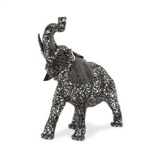 Small Elephant, Aluminum Scroll Design