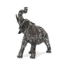 Small Elephant, Aluminum Scroll Design