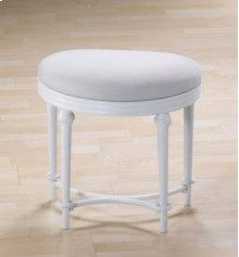 Cape May Vanity Stool - Matte White
