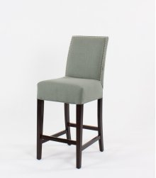 "Straight top barstool with small nails. 30"" barstools have a seat height of 30"" when measured"