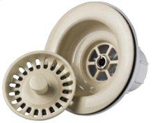 Decorative Plastic Universal Basket Strainer for Granite Sinks - Champagne