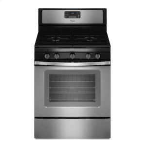 5.0 Cu. Ft. Freestanding Gas Range with Fan Convection Cooking - BLACK-ON-STAINLESS
