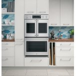"""Ge Cafe(tm)  30"""" Built-In Double Convection Wall Oven"""