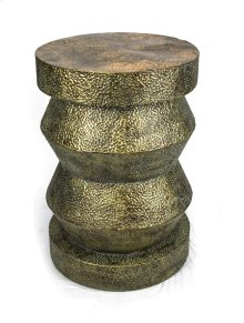 "Aged Gold Metal Accent Table 28.5""H"