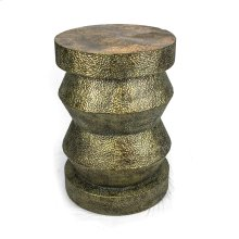 """Aged Gold Metal Accent Table 28.5""""H"""