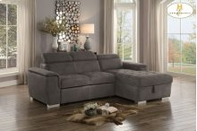 Sectional with Pull-out Bed and Hidden Storage