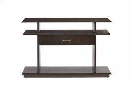 Sofa/Console Table - Dark Patterned Oak Finish