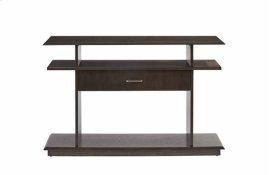 Sofa/Console Table - Dark Patterned Oak Finish