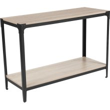 Northvale Collection Sonoma Oak Wood Finish Console Table with Black Metal Legs