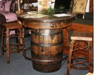 Whiskey Barrel Pub Table Product Image
