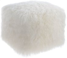 Tibetan Sheep White Pouf