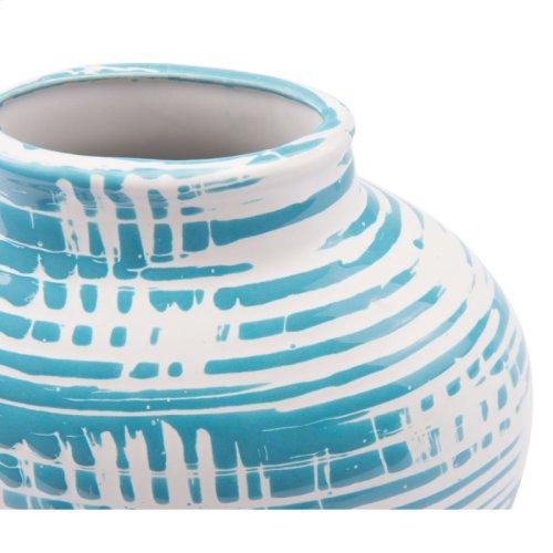 Washed Sm Vase Blue & White