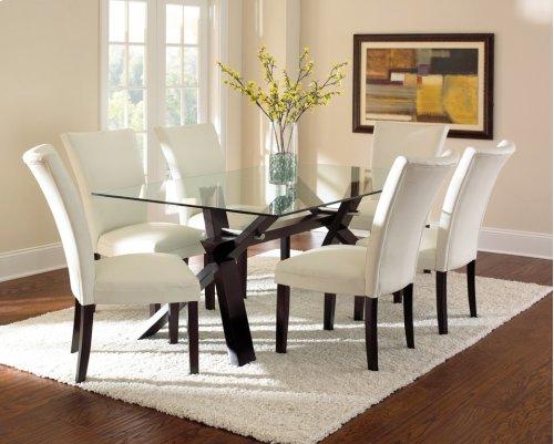 "Berkley Bonded Parsons Chair, Brown, 21""x30""x41"""