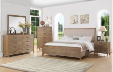 Torino - 6 Piece King Upholstered Bed Set