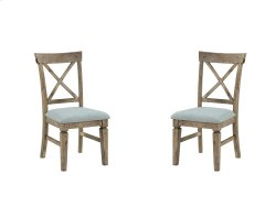 Emerald Home Valencia X-back Side Chair W/uph Seat-natural Reclaimed Pine Finish (2/ctn) D559-20 Product Image