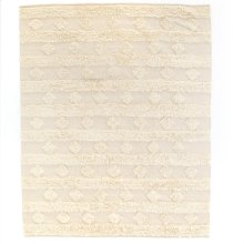 8'x10' Size Beige Diamond Stripe Rug