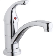 Elkay Everyday Single Hole Deck Mount Kitchen Faucet with Lever Handle Chrome