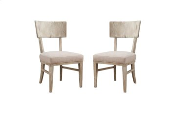 Emerald Home Synchrony Side Chair Wood Back W/upholstered Seat Pearl D112-20 Product Image