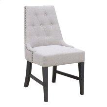 Emerald Home Wallingford Upholstered Dining Chair Dark Walnut, Antique Black D750-22-03